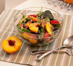 Peach Tomato salad with sunflower seeds