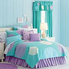 Teal And Purple Girlu0027s Bedding From Jcpenny.com