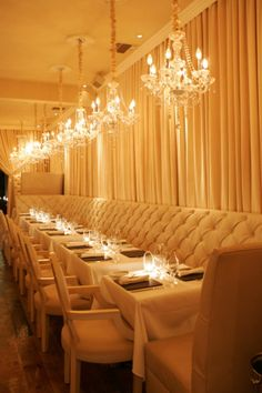ORTOLAN Restaurant in Los Angeles, CA. Featuring tufted banquettes...