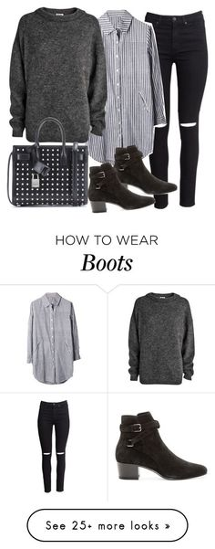"""Untitled #19390"" by florencia95 on Polyvore featuring H&M, Acne Studios and Yves Saint Laurent"