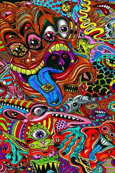 Download wallpaper 800x1200 drawing, surreal, colorful, psychedelic iphone 4s/4 for parallax hd background