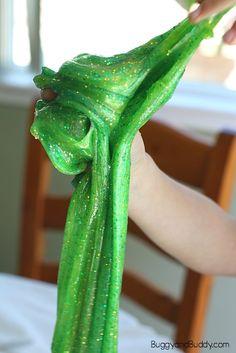 how to make jungle slime rainforest slime or afrincan savanna slime Sand Crafts, Fun Crafts For Kids, Activities For Kids, Rainforest Activities, Easy Slime Recipe, Arts And Crafts House, Diy Slime, Valentines For Kids, Summer Kids