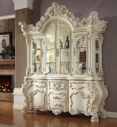 China Lights, Wooden Cabinets, China Cabinets, Glass Cabinet Doors, White China, Random House, White Wood, Furniture Design, Sofa Design