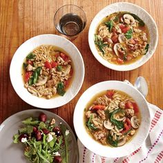 Italian Turkey and Orzo Soup | Learn how to make Italian Turkey and Orzo Soup . MyRecipes has 70,000+ tested recipes and videos to help you be a better cook