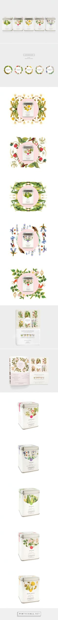 Apothecary #Tea #Packaging by Nude Design Studio - http://www.packagingoftheworld.com/2015/01/apothecary-tea-packaging.html