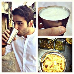 """My food excursion in Amritsar. Lassi and kulcha. Now back to serious workouts. Indian Drinks, Indian Food Recipes, Ethnic Recipes, Indian Street Food, Amritsar, Lassi, I Foods, Pakistani, Cheers"