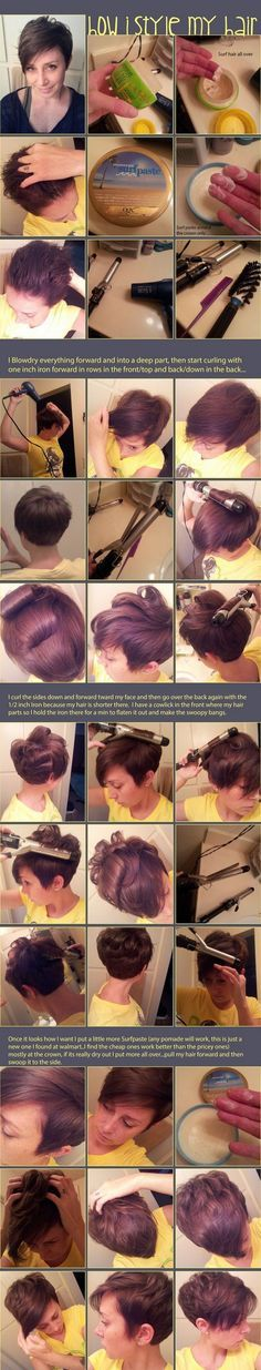 Pixie styling for when my hair grows out a little more