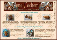 Fimo Cristalline, tuto et bijoux en polymère: Mon tuto Cachemire !