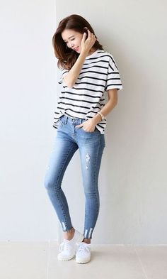 Look Skinny Jeans: Com Tênis