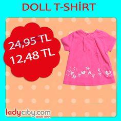 Doll T-shirt ile küçük prensesiniz göz dolduracak :)