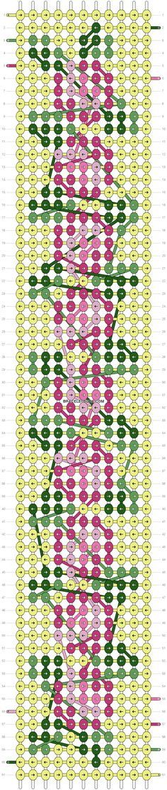 Vintage Flower Friendship Bracelet Pattern Number 6197 - For more patterns and tutorials visit our web or the app!