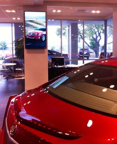Cadillac Dealership Digital Signage - Learn More at http://www.abnetwork.com.
