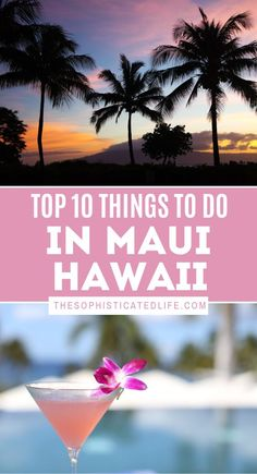 Maui is a beautiful island in Hawaii with so much to offer. Go surfing, watch the sunrise on top of a volcano and go to a luau! Hawaii Travel Guide, Maui Travel, Usa Travel Guide, Travel Usa, Travel Guides, Travel Tips, Travel Destinations, Beach Travel, Travel Advice