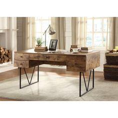 Coaster Company Home Furnishings Desk (Antique Nutmeg/Black)