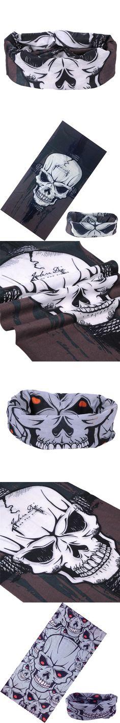 Skull Bandana Stretchable Tubular Bandana For Ski 25*48cm Face Mask Cap Neck Tube Multifunctional Scarf Men Magic skull headwear