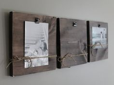 Rustic Wall Clip Frame 4x6 or 5x7 Photo Display Photo by Creazi