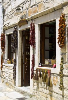 "Little Pepper Shop, Naxos, Greece ""Hot hot, les piments"" by E Richard"