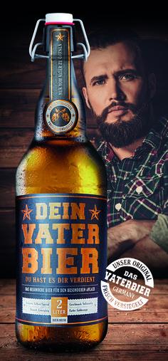 DAS PERFEKTE GESCHENK ZUM VATERTAG - JETZT BEI UNS IM SHOP FÜR 19.90 EUR  happy father's Day + father beer + vatertag + geschenk geburt + geschenk vater + vaterbier
