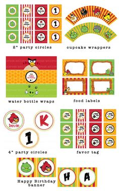 Angry Birds Printables -- Etsy