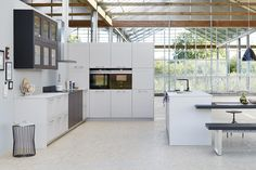 Küchen Kitchens Bromley showroom provides new ideas in kitchen design that will provide the perfect solution for every budget. German and bespoke kitchens. Kitchen World, Kitchen Island, Kitchen Cabinets, Bespoke Kitchens, Home Decor, Space, Big, Kitchen Contemporary, Black
