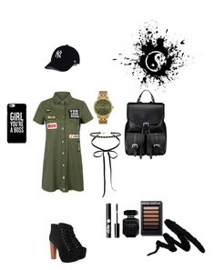 """""""The Black Summer"""" by maria-matilde-ibsen on Polyvore featuring WithChic, Jeffrey Campbell, Aspinal of London, Nixon, Miss Selfridge, Elie Saab and Charlotte Russe"""