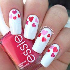 Walentynkowe paznokcie