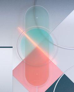 Art work by Daniel Lepik using neon light and translucent glass. Shape Design, 3d Design, Graphic Design, Fluent Design, 3d Artwork, Light Art, Installation Art, Industrial Design, Color Inspiration