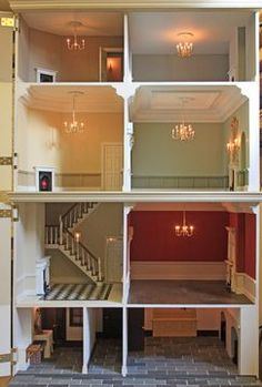 "Anglia Dolls Houses by Tim Hartnall - Ready to ""move in"" (jt- Kensington House - seen his houses in the 'flesh' and they're really beautifully finished)"