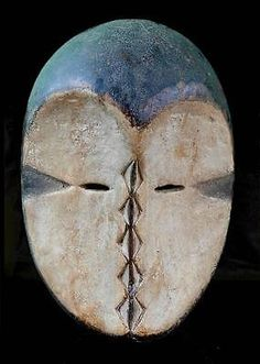 Old Tribal Kwele Mask  Gabon in Antiques, Ethnographic Antiques, African | eBay