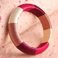 Silk thread wrapped bangles