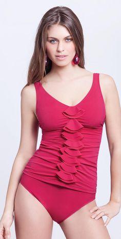 8a4340966b581 Profile by Gottex Basics Solid Cherry Pant #gottex #cherry #tankini # swimwear #beachfashion #swimwearrack swimwearrack.com