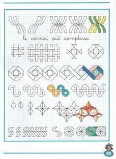 Risultati immagini per grecas para niños Blackwork Patterns, Blackwork Embroidery, Doodle Patterns, Zentangle Patterns, Quilt Patterns, Graph Paper Drawings, Graph Paper Art, Pixel Art, Math Art