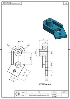 CADD DRAWING PRACTICE Mechanical Design, Mechanical Engineering, 3d Drawings, Animal Drawings, 3d Drawing Techniques, Drawing Tips, Isometric Drawing Exercises, Cad 3d, Autocad Training