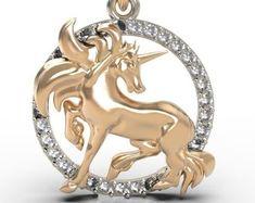 Unicorn pendant | Etsy