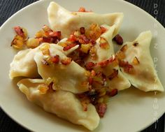 Polish Pork Dumplings (Pierogi z mięsem)  (Recipe is in Polish but with google translation it's pretty intelligible.)