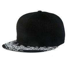 1PC Paisley Black Snapback Bboy Hiphop Hat Adjustable Baseball Cap Unisex