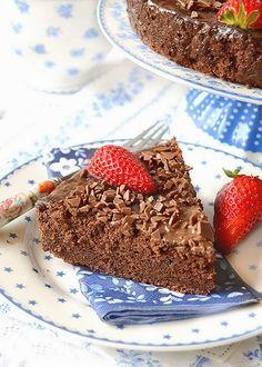 Dolci a go go: Torta morbida al cioccolato con ricotta e fragole