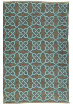 turquoise and blue rug