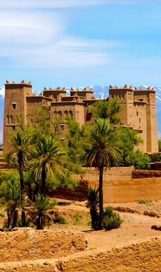A Moroccan Kasbah in the Atlas Mountains Morocco