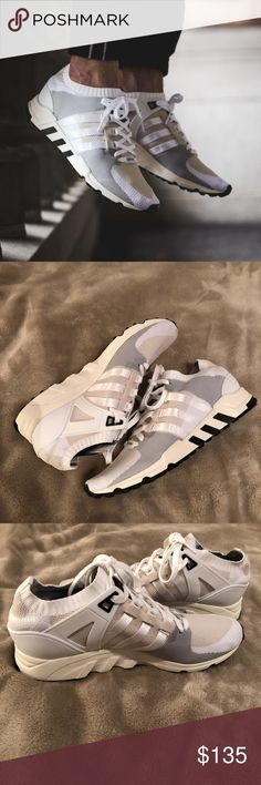 ADIDAS EQUIPMENT SUPPORT RF PRIMEKNIT WHITE Adidas Men's EQT Support RF PK Originals in White, Grey, Black  These sneakers are brand new, never have been worn. Will be shipping with the original box, but the lid is missing. adidas Shoes Sneakers