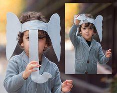Elefanten Kostüm mit Ohren und Rüssel