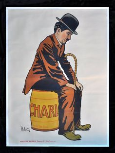 classic posters, free download, graphic design, movies, retro prints, theater, vintage, vintage posters, Charlie Chaplin - Vintage Movie Poster