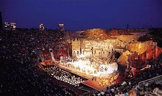 The Arena Di Verona, built in the first century AD, is one of the best conserved Roman amphitheaters. Surprisingly, it's not just an old crumbing building. It is still used today for Opera performances and modern music concerts. Opera season is between June and September.