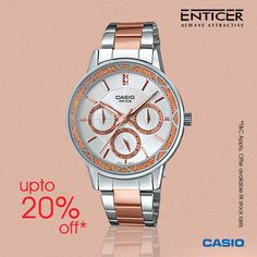 Upto 20% off on #Casio Enticer Collection!!