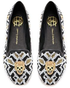 These House of Harlowe 1960 beaded skull loafers are the stuff dreams are made of! I am dying for them, and they remind me so much of my sister, so I hope she sees this!