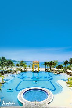 Relax and unwind at Sandals Whitehouse. Lounge around our magnificient swimming pools and sip on ice cold cocktails at the pool bar.