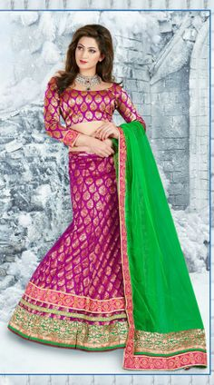 2af4d78b8c9c35 Snazzy Rani Pink Net Lehenga Choli 2FD3056745 Click on image for larger  view. Rollover on image for zoom. Snazzy Rani Pink Net Lehen.