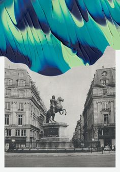Mix media....Souvenirs de Paris Postcards by Leslie David for colette