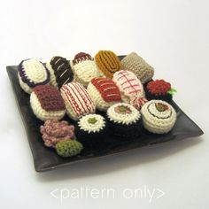 Amigurumi Sushi Pattern Collection PDF by NeedleNoodles on Etsy