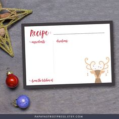 Christmas Cookie Exchange Food Tent Template by papayastreetpress ...